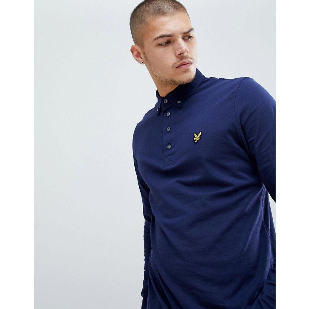 ライル アンド スコット Lyle & Scott メンズ トップス ポロシャツ【long sleeve woven collar polo shirt】Navy
