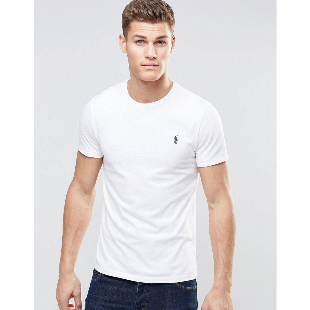 ラルフ ローレン Polo Ralph Lauren メンズ トップス Tシャツ【t-shirt with crew neck in white】White