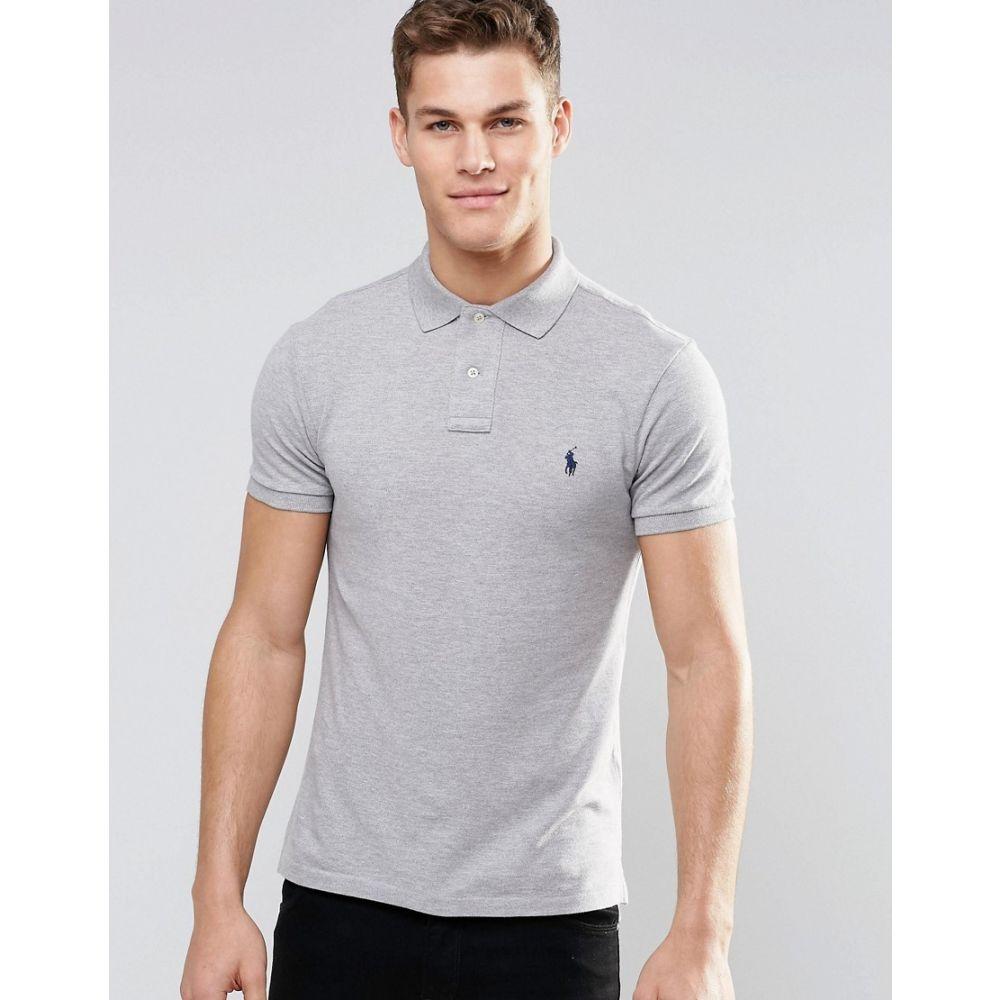 ラルフ ローレン Polo Ralph Lauren メンズ トップス ポロシャツ【plain logo slim fit polo in grey】Grey