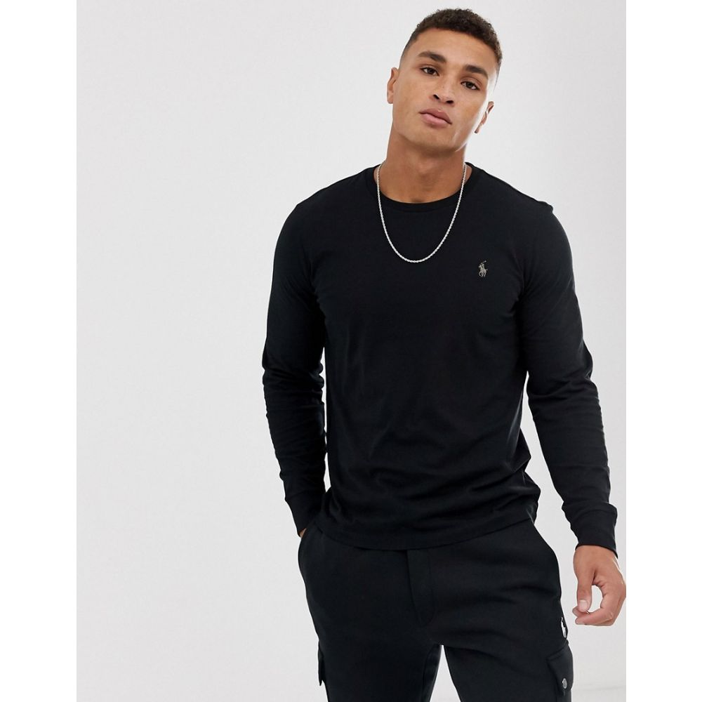 ラルフ ローレン Polo Ralph Lauren メンズ トップス ポロシャツ【long sleeve top with polo player in black】Black