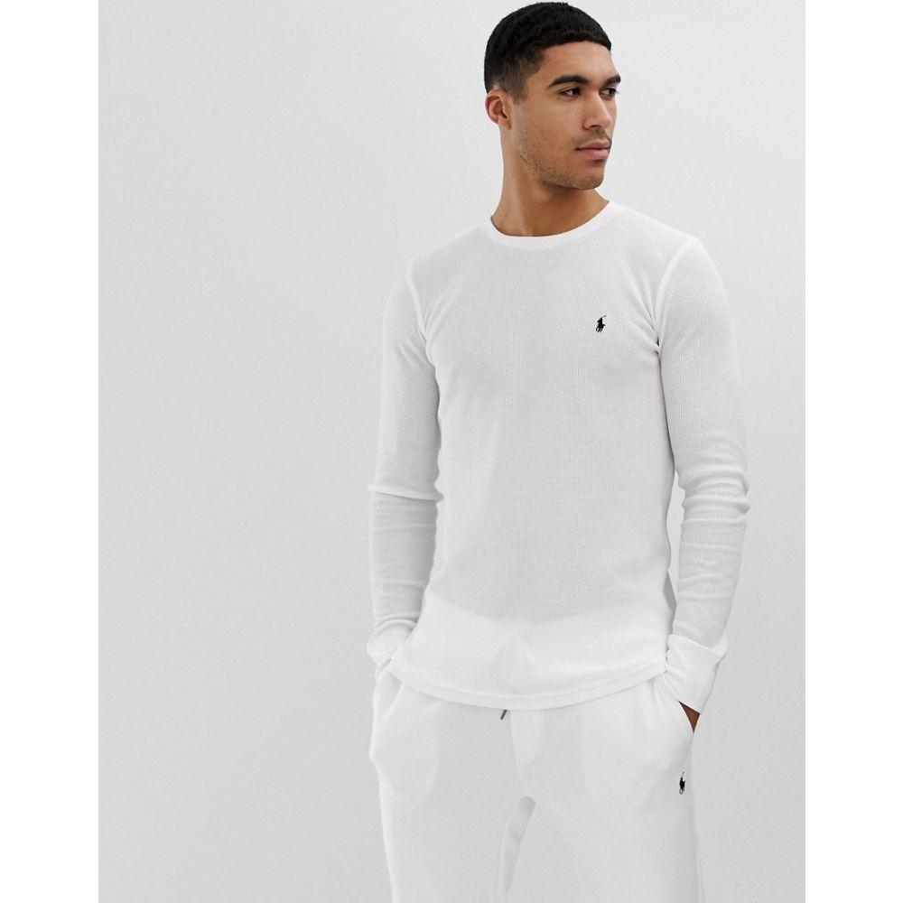 ラルフ ローレン Polo Ralph Lauren メンズ トップス【waffle long sleeve top player logo in white】Nevis