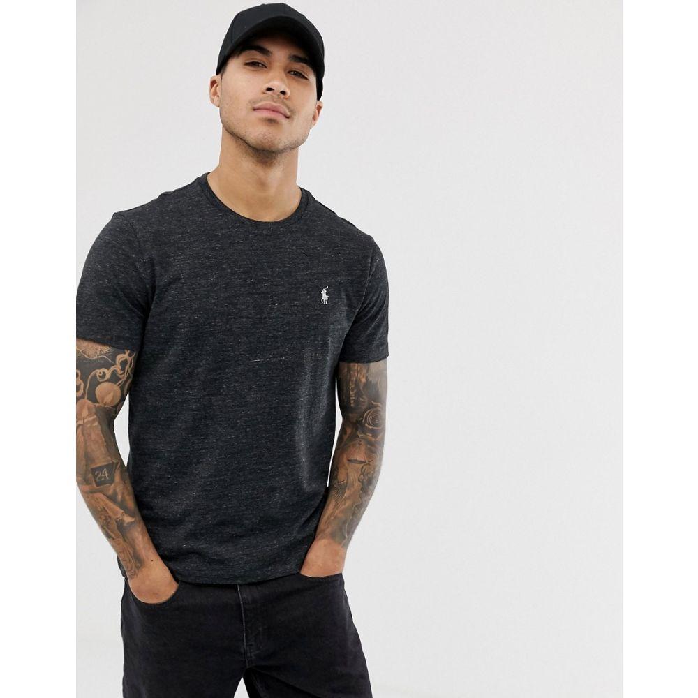 ラルフ ローレン Polo Ralph Lauren メンズ トップス Tシャツ【player logo t-shirt in black marl】Black marl heather