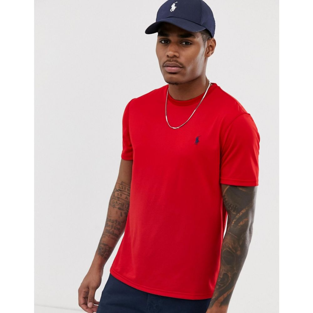 ラルフ ローレン Polo Ralph Lauren メンズ トップス Tシャツ【performance player logo t-shirt in red】Red