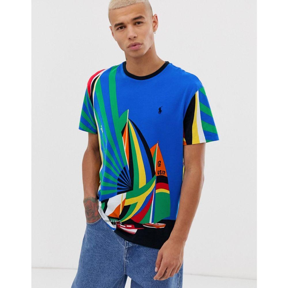 ラルフ ローレン Polo Ralph Lauren メンズ トップス Tシャツ【all over sailing print t-shirt classic oversized fit in multi】Newport sailing star