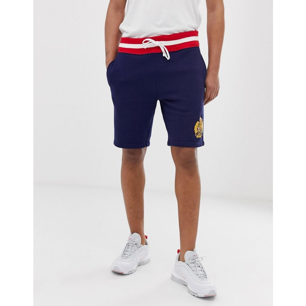ラルフ ローレン Polo Ralph Lauren メンズ ボトムス・パンツ ショートパンツ【crest logo cut off sweat shorts in navy】Cruise navy