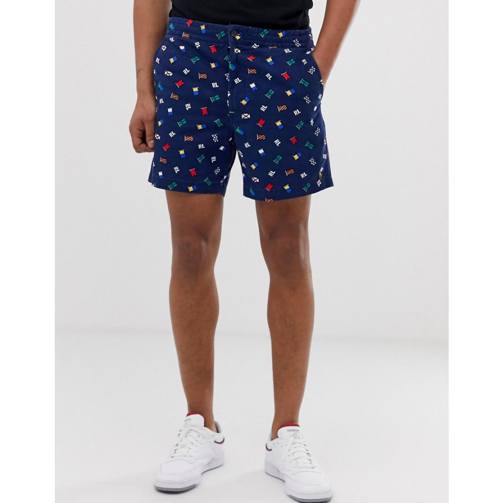 ラルフ ローレン Polo Ralph Lauren メンズ ボトムス・パンツ ショートパンツ【Prepster flag logo drawstring chino shorts in navy】Nautical ink