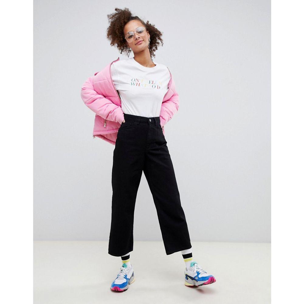 モンキー Monki レディース ボトムス・パンツ ジーンズ・デニム【Mozik wide leg jeans with organic cotton in black】Black