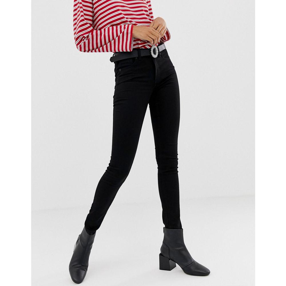 モンキー Monki レディース ボトムス・パンツ ジーンズ・デニム【Mocki mid waist jeans with organic cotton in black】Black