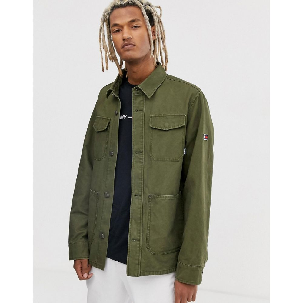 トミー ジーンズ Tommy Jeans メンズ アウター ジャケット【multi pocket cargo jacket in olive】Olive night