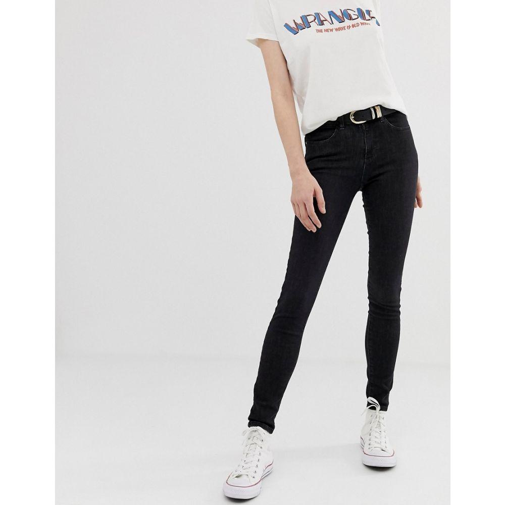 ラングラー Wrangler レディース ボトムス・パンツ ジーンズ・デニム【high rise skinny jeans】Used black