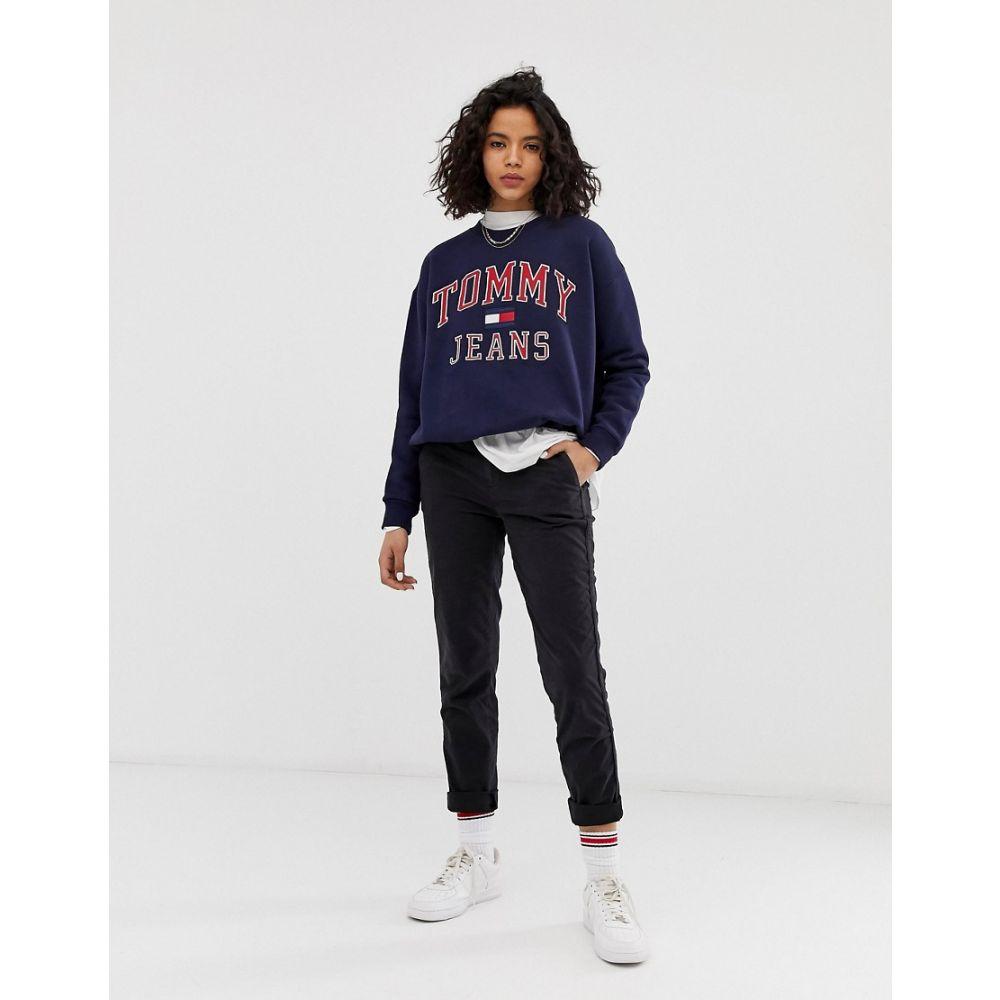 トミー ジーンズ Tommy Jeans レディース ボトムス・パンツ【essential chino trousers】Tommy black