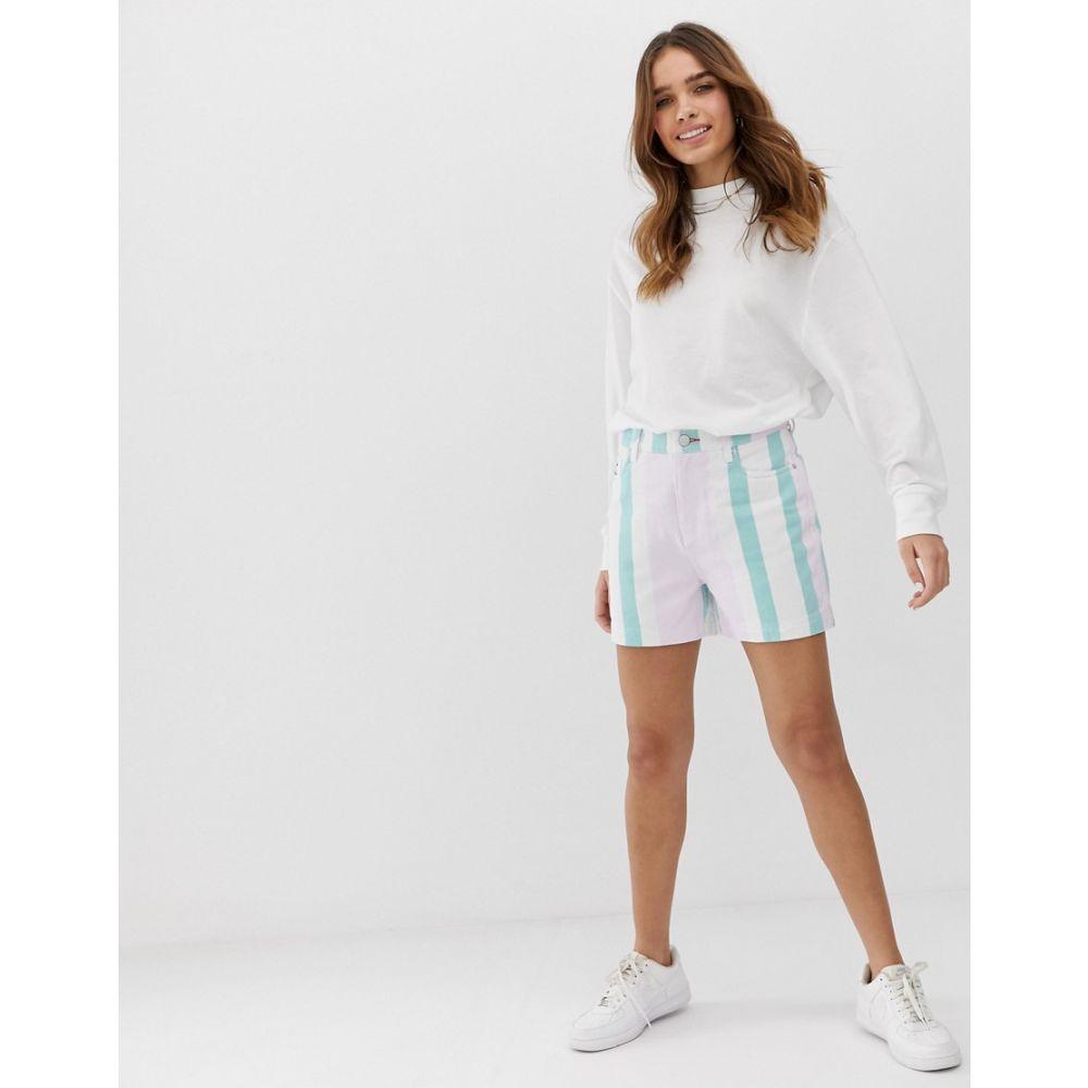 トミー ジーンズ Tommy Jeans レディース ボトムス・パンツ ショートパンツ【colour block stripe short】Bold pastel stripe