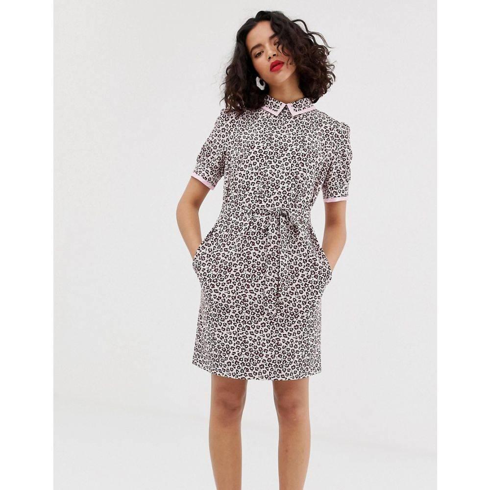 エッセンシャル Essentiel Antwerp レディース ワンピース・ドレス ワンピース【Saoirse contrast collar dress】Sangria