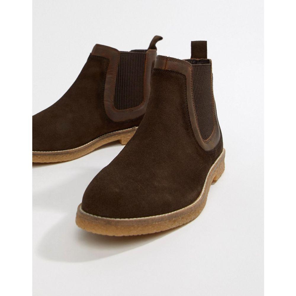 シルバー ストリート Silver Street メンズ シューズ・靴 ブーツ【Faux Crepe Chelsea Boot in Brown】Brown