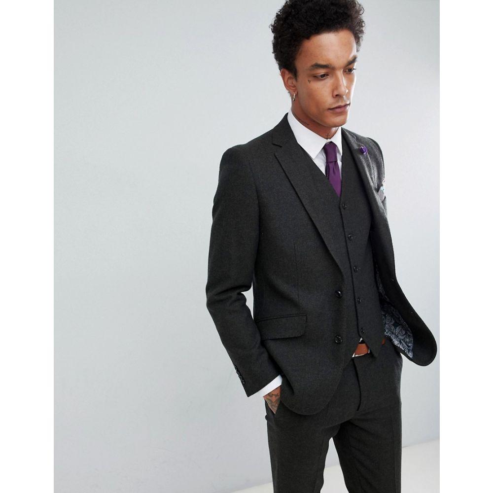 ジャンニ フェロー Gianni Feraud メンズ アウター スーツ・ジャケット【Slim Fit Green Donnegal Wool Blend Suit Jacket】Green