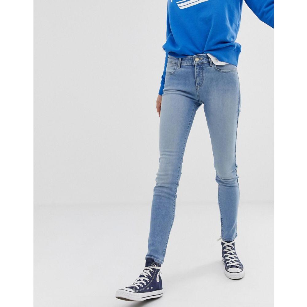 ラングラー Wrangler レディース ボトムス・パンツ ジーンズ・デニム【mid rise skinny jeans】Blue light