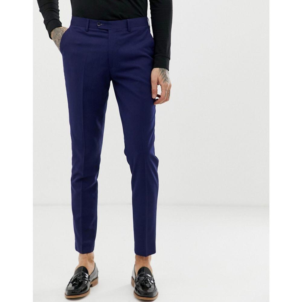ジャンニ フェロー Gianni Feraud メンズ ボトムス・パンツ スラックス【slim fit perfect navy wool blend suit trousers】Navy