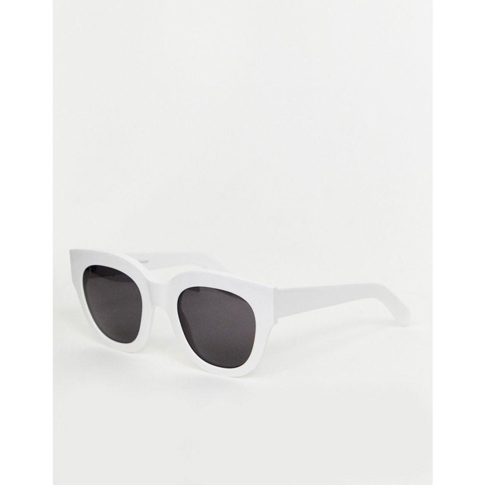 モノケル Monokel Eyewear メンズ メガネ・サングラス【Cleo cat eye sunglasses in white】White