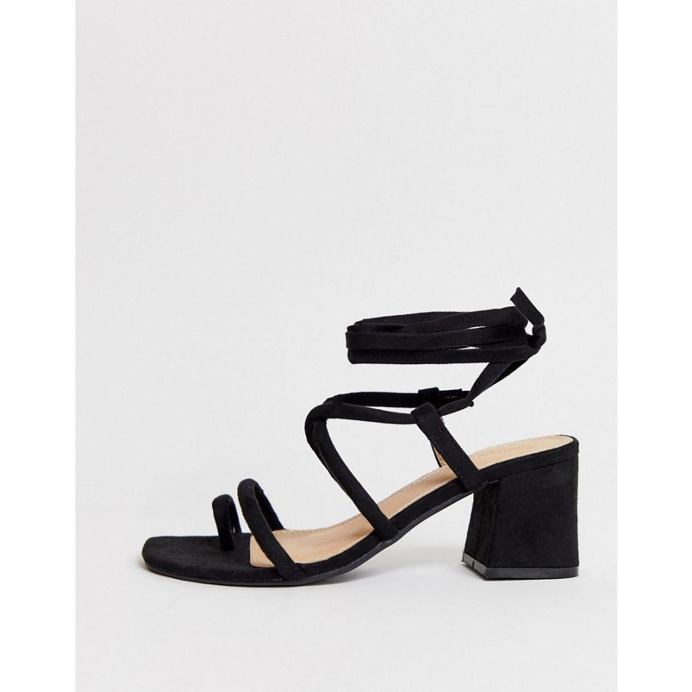 ピンキー Pimkie レディース シューズ・靴 サンダル・ミュール【strappy mid sandals in black】Black