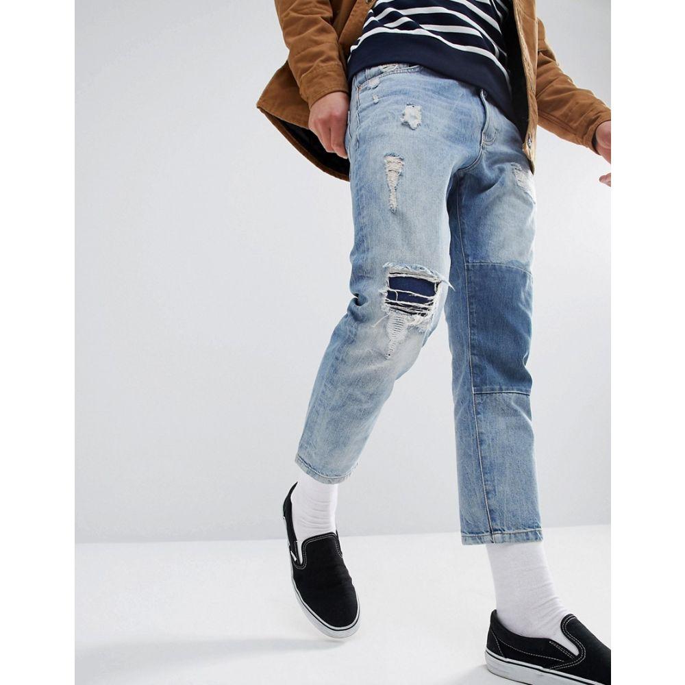 ジャスト ジャンキーズ メンズ ボトムス・パンツ ジーンズ・デニム【Cropped Patch Jean】spring blue