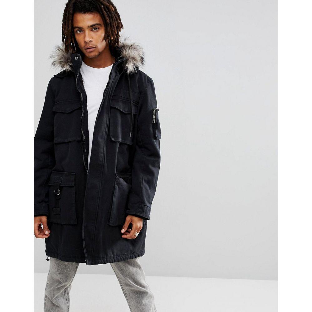 ブルックリンズ オウン Brooklyns Own メンズ アウター コート【Heavyweight Parka In Black With Faux Fur Hood】Black
