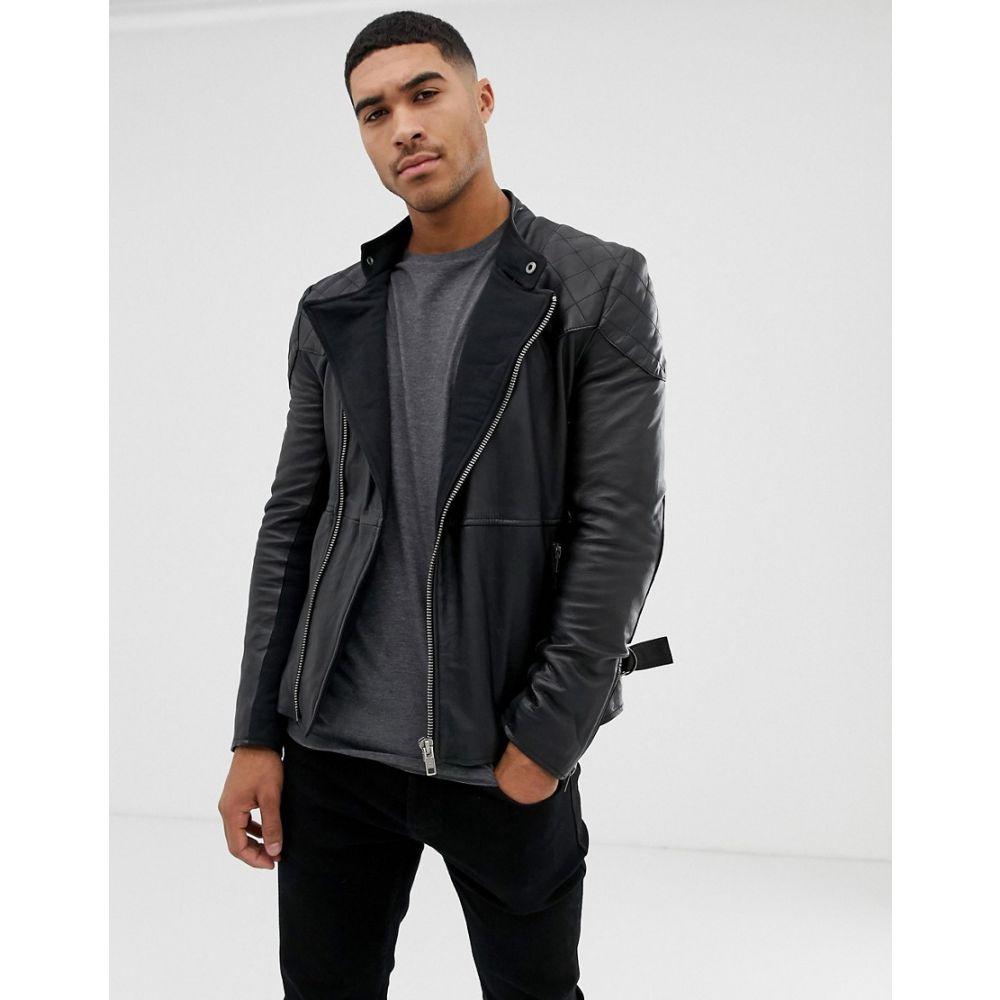 ボロンガロトレバー Bolongaro Trevor メンズ アウター レザージャケット【quilted leather biker jacket】Black