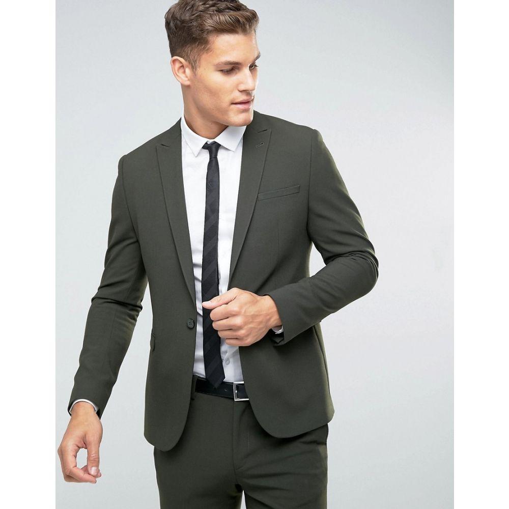 エイソス メンズ アウター スーツ・ジャケット【ASOS Skinny Suit Jacket In Khaki】Khaki