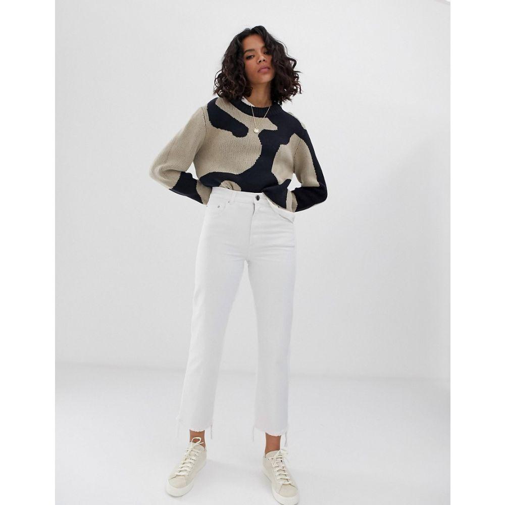 エイソス ASOS DESIGN レディース ボトムス・パンツ ジーンズ・デニム【Florence authentic straight leg jeans in bone chalky white wash】Chalk white