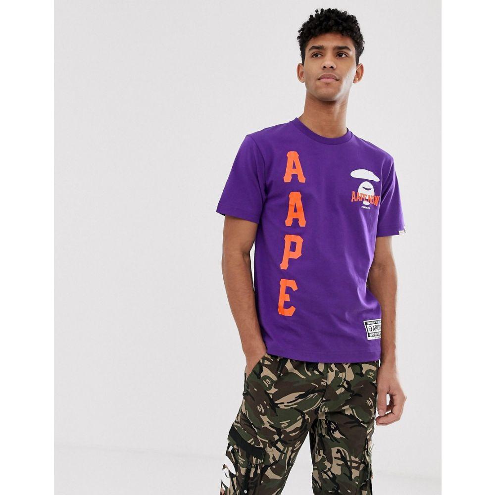 ベイシング エイプ Ape AAPE BY ベイシング A BATHING APE t-shirt メンズ トップス Tシャツ【AAPE By A Bathing Ape t-shirt with large logo in purple】Purple, La foresta d'Italia:31ed1e4e --- officewill.xsrv.jp