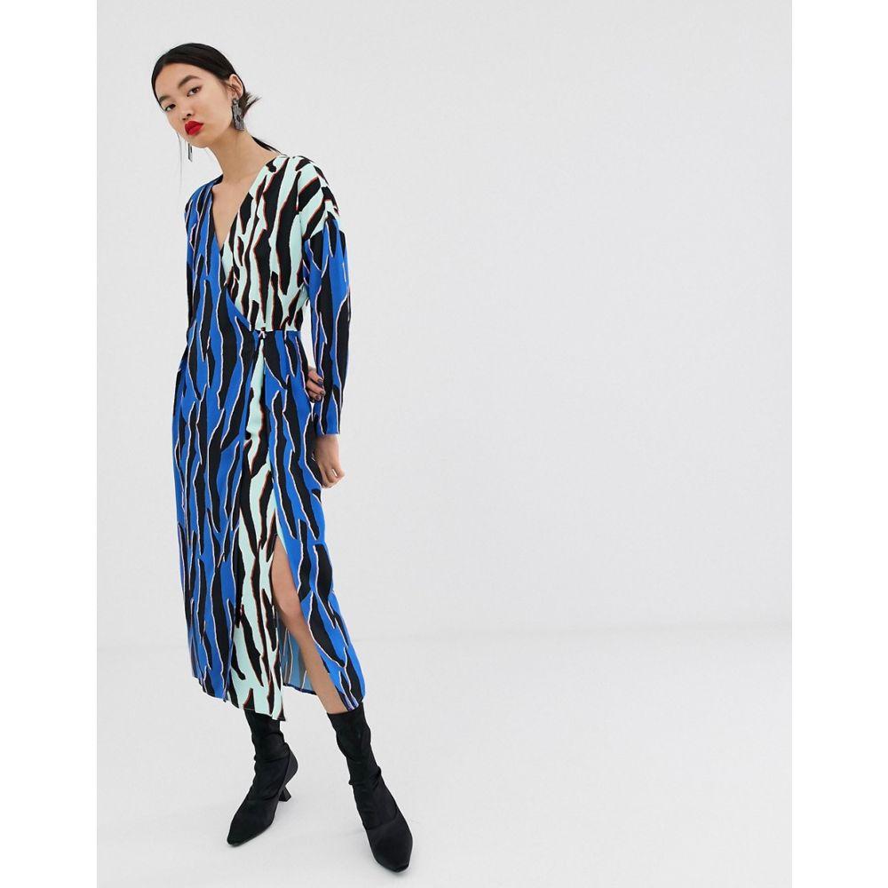 エイソス ASOS WHITE レディース ワンピース・ドレス ワンピース【animal print wrap dress】Multi