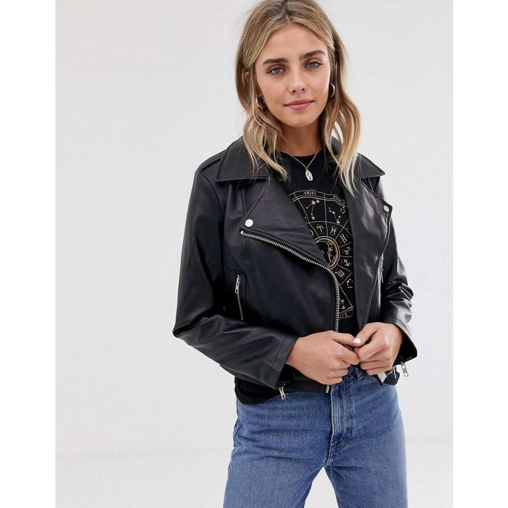 エイソス ASOS DESIGN レディース アウター レザージャケット【ultimate leather look biker jacket】Black