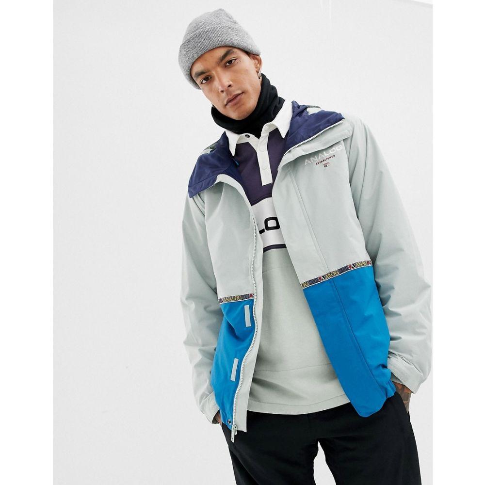 アナログ Analog メンズ スキー・スノーボード アウター【Blast snowboard jacket in grey/blue】Grey