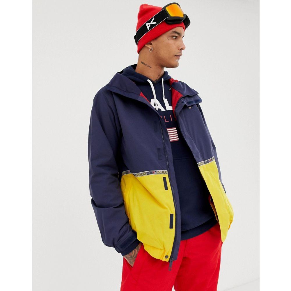 アナログ Analog メンズ スキー・スノーボード アウター【Blast snowboard jacket in navy/yellow】Navy