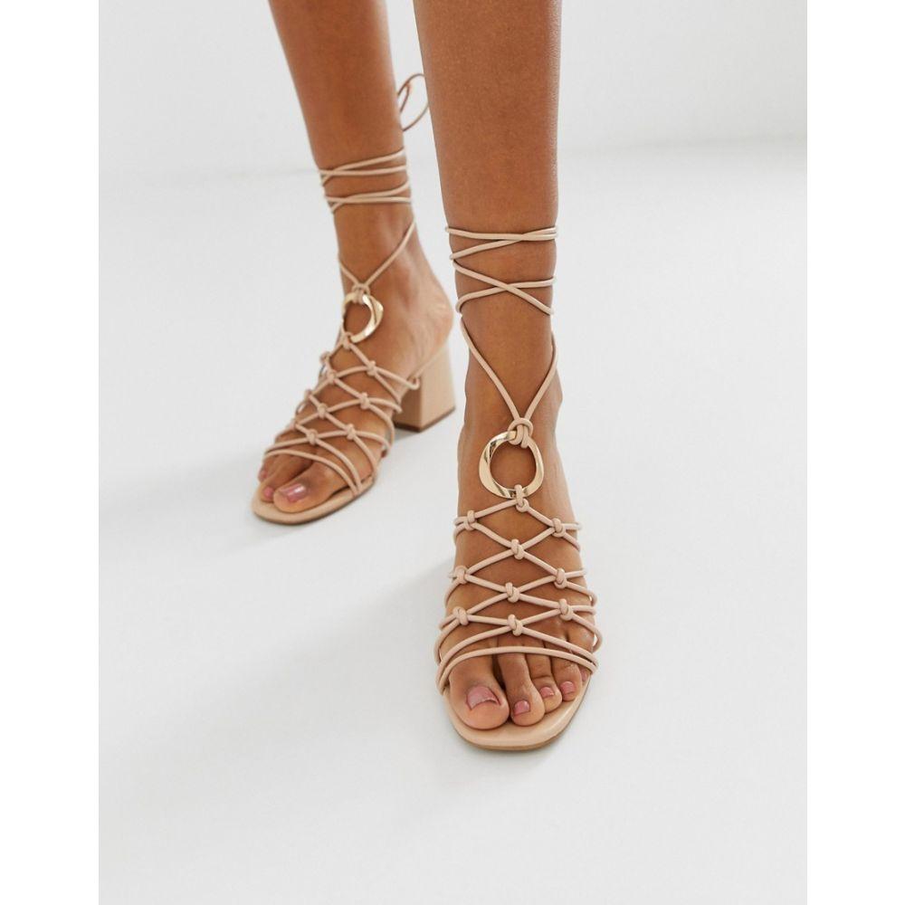 エイソス ASOS DESIGN レディース シューズ・靴 サンダル・ミュール【Harvey knotted ring detail sandals】Warm beige