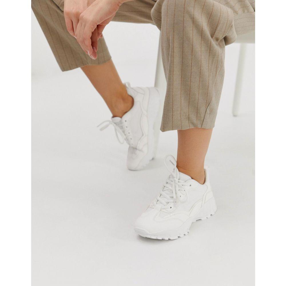 エイソス ASOS DESIGN レディース シューズ・靴 スニーカー【Dominic chunky trainers】White
