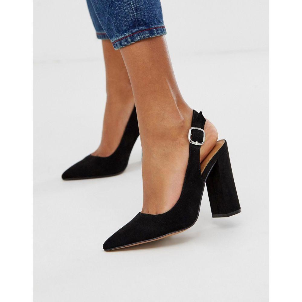 エイソス ASOS in レディース シューズ・靴 high slingback black】Black heels DESIGN ヒール【Penley