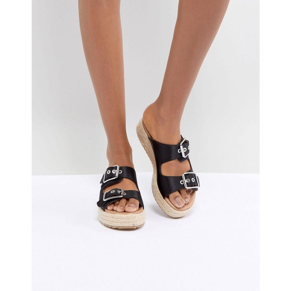 エイソス レディース シューズ・靴 エスパドリーユ【DESIGN Jacques Premium Espadrille Sandals】Black
