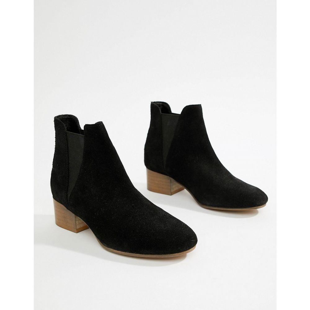 エイソス レディース シューズ・靴 ブーツ【ASOS DESIGN Resist suede ankle boots】Black suede