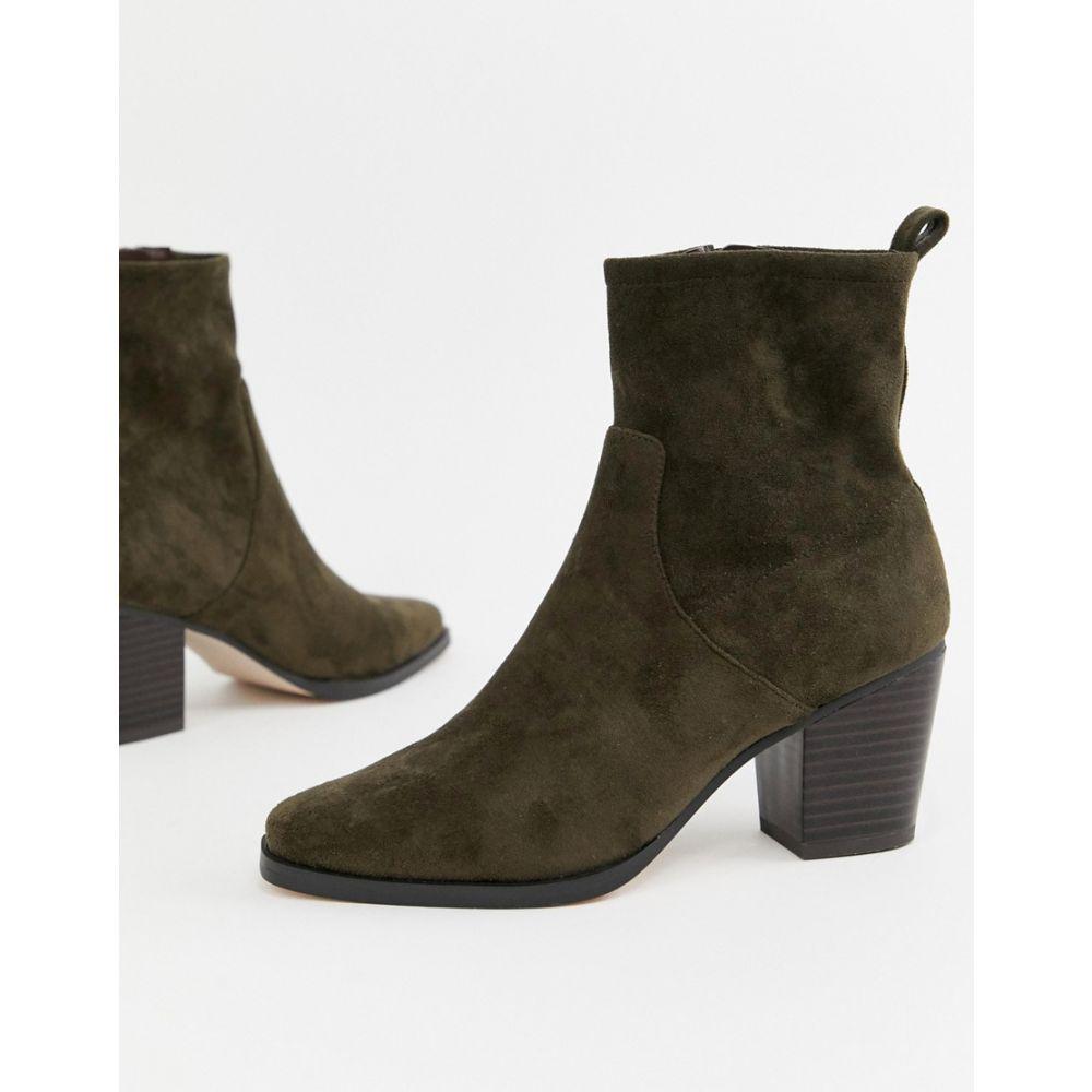 エイソス ASOS DESIGN レディース シューズ・靴 ブーツ【Rodeo western ankle boot】Olive