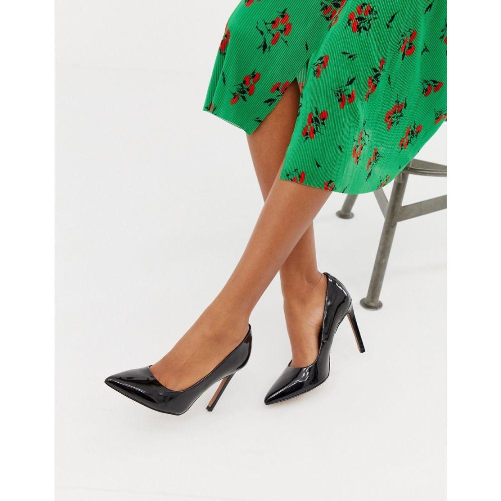 エイソス ASOS DESIGN レディース シューズ・靴 パンプス【Porto pointed high heeled court shoes in black patent】Black patent