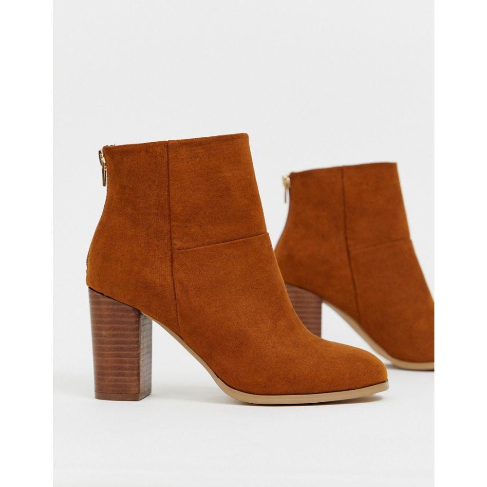 エイソス ASOS DESIGN レディース シューズ・靴 ブーツ【Essy heeled ankle boots】Tan