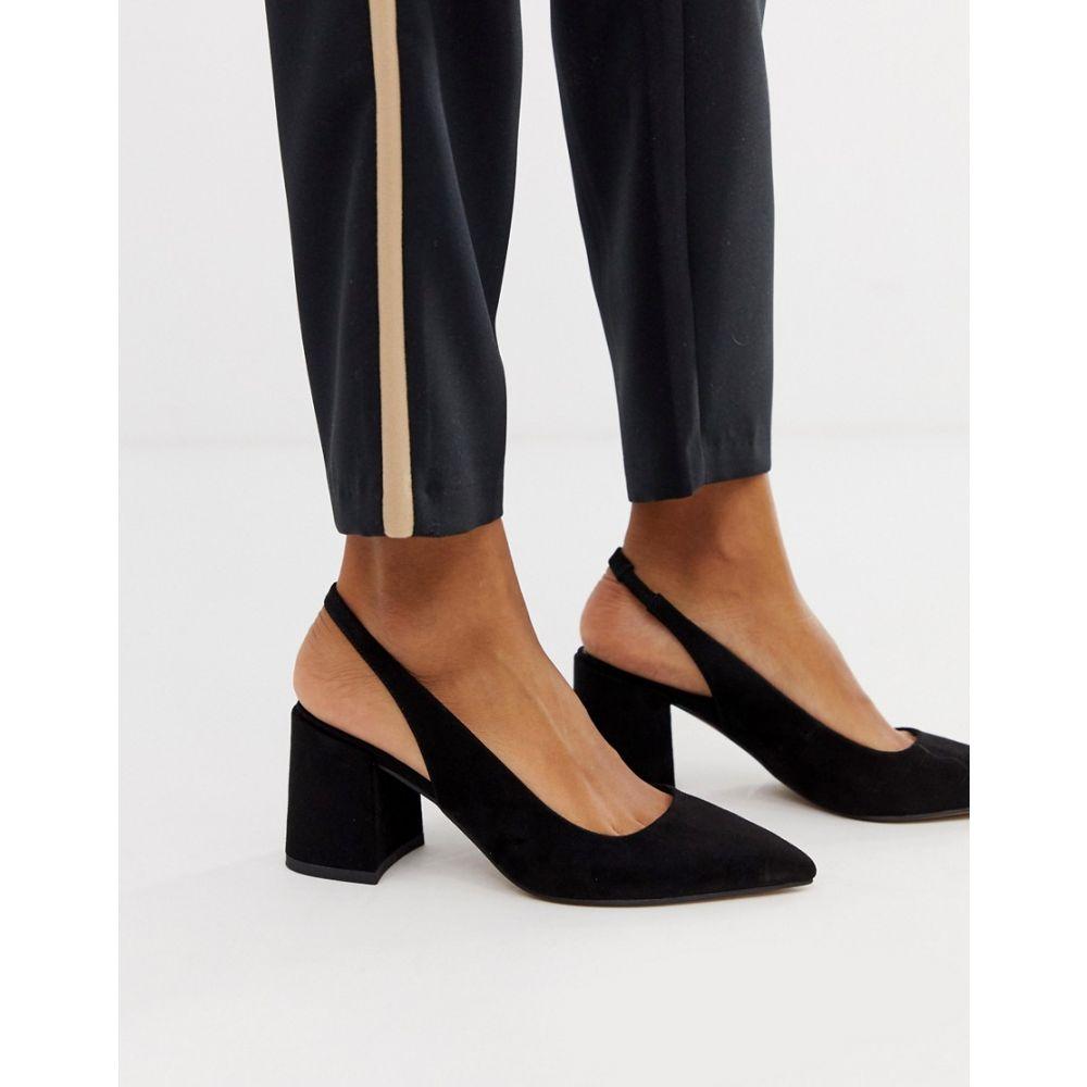 エイソス ASOS DESIGN レディース シューズ・靴 ヒール【Samson slingback mid heels】Black
