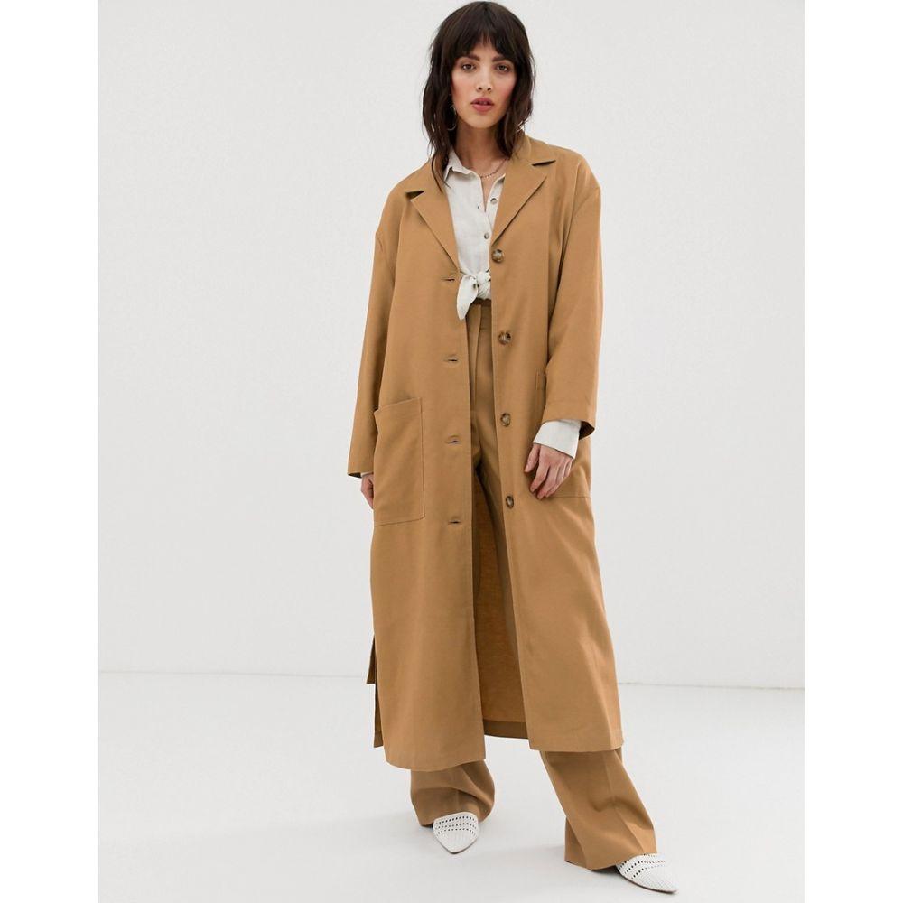 マンゴ Mango レディース アウター トレンチコート【trench coat in brown】Brown