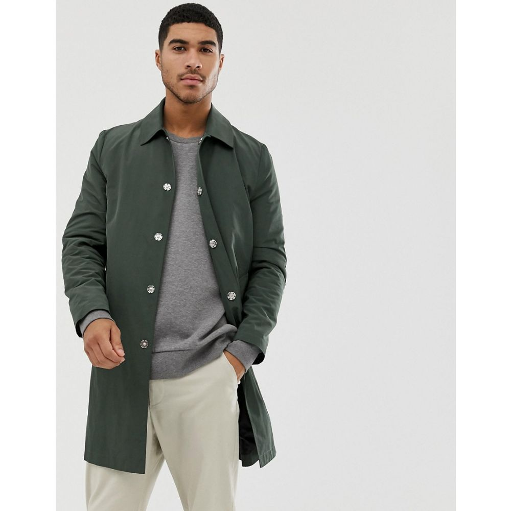 エイソス ASOS DESIGN メンズ アウター トレンチコート【shower resistant trench coat in green】Green