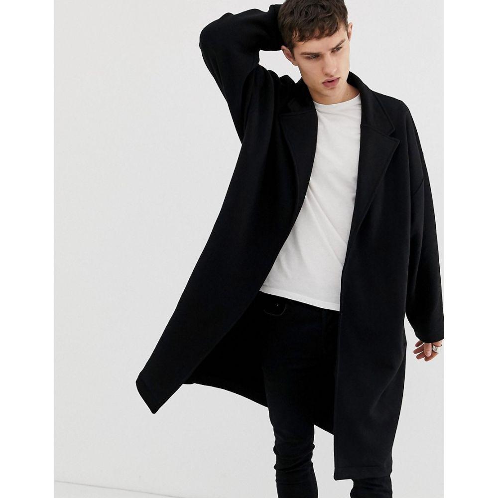 エイソス ASOS DESIGN メンズ アウター ジャケット【extreme oversized jersey duster jacket in black】Black