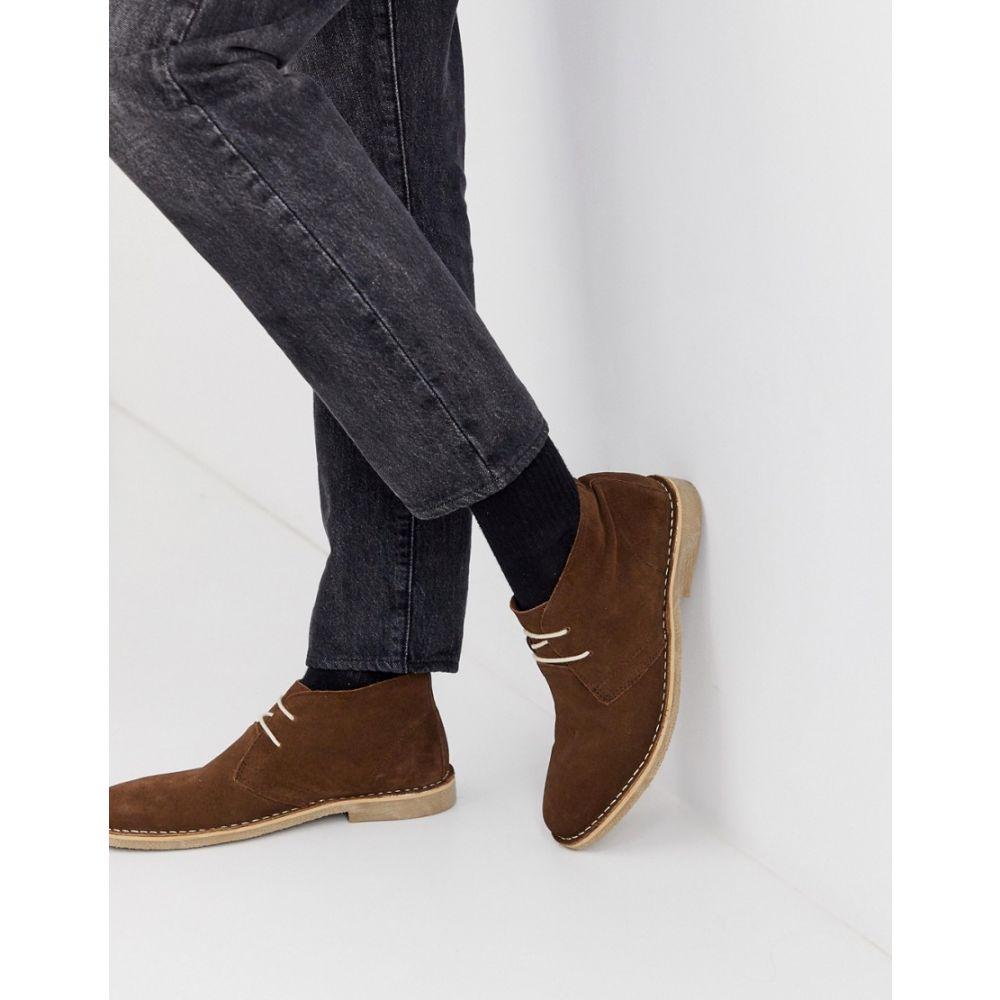 エイソス ASOS DESIGN メンズ シューズ・靴 ブーツ【desert boots in brown suede】Brown