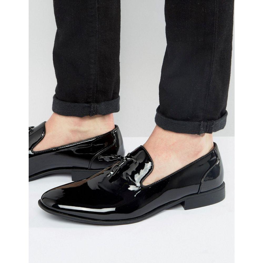 エイソス ASOS DESIGN メンズ シューズ・靴 ローファー【tassel loafers in black patent】Black