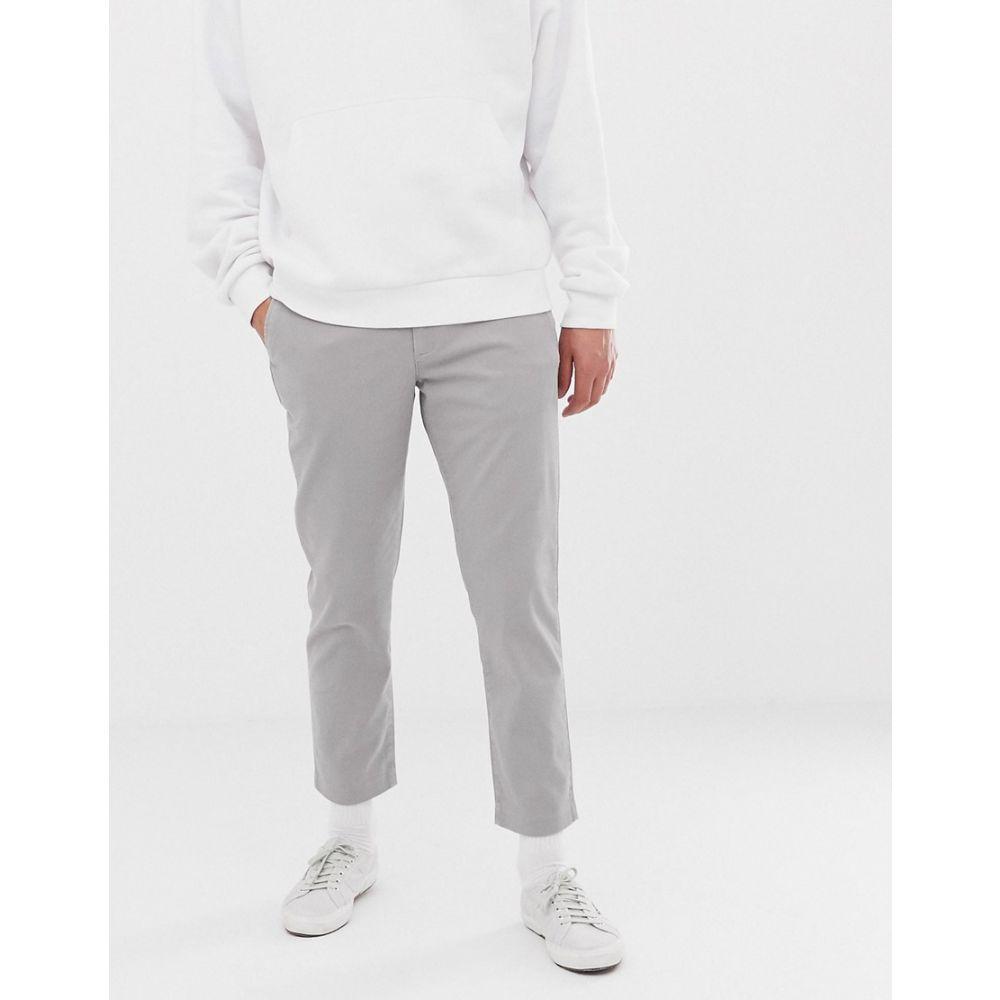 カルバンクライン Calvin Klein メンズ ボトムス・パンツ チノパン【cropped chinos】Frost gray