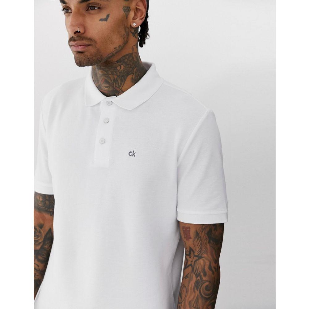 カルバンクライン Calvin Klein Golf メンズ トップス ポロシャツ【Vmidtown radical polo in white】White