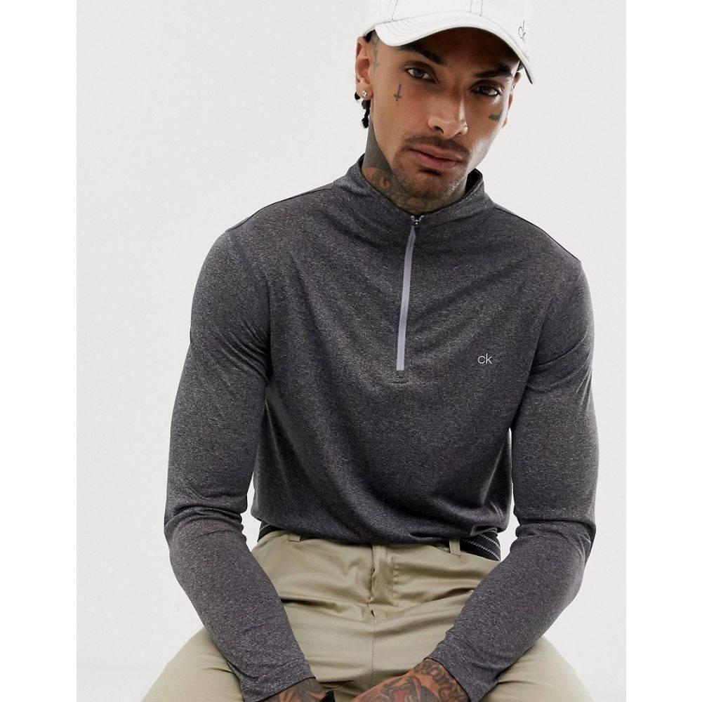 カルバンクライン Calvin Klein Golf メンズ トップス【Harlem half zip in grey】Grey